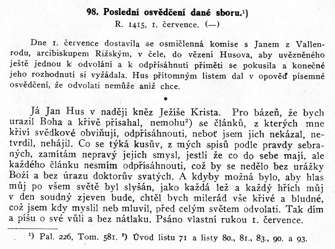Husův list